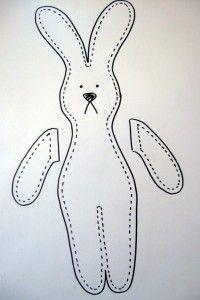 DIY softie pattern bunny, and tutorial!