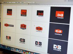 D&B Concrete Logo Exploration by Brevity