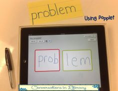 Breaking Words Apart into Syllables using the app Popplet & first grade BME Reading Resources, Teaching Reading, Guided Reading, Reading Notes, Teaching Tips, Word Study, Word Work, 3rd Grade Reading, Third Grade