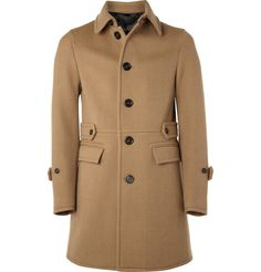 SINGLE-BREASTED WOOL-BLEND COAT