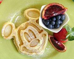 Mickey Mouse Waffles Recipe served at Chef Mickeys in Contemporary Resort at Disney World