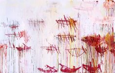 Cy Twombly, Lepanto, 2001, Mixed media on canvas, 215.3 × 334.6 cm