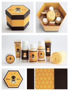 Baby Bee Concept Packaging Design by Jillian Vaughan, via Behance Honey Packaging, Tea Packaging, Packaging Design, Honey Store, Honey Bottles, Honey Logo, Honey Label, Bee Creative, Bee Party