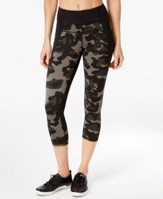 CALVIN KLEIN Calvin Klein Performance Jigsaw-Print Cropped Leggings. #calvinklein #cloth # pants