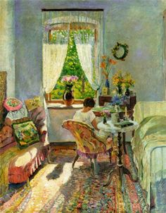 Sergie Vinogradov (Russia 1869–1938)Summer at the Dacha (n.d.)oil on canvas