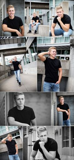 boy pictures with black tee, denim and sneakers. Jaimy Ellis - Photographersenior boy pictures with black tee, denim and sneakers. Boy Senior Portraits, Senior Boy Poses, Photography Senior Pictures, Senior Guys, Male Portraits, Senior Session, Guy Photography, Senior Year, Male Senior Pictures