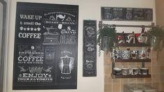 angolo cucina,tavola lavagna decorazione caffè di Sonia Del Vecchio