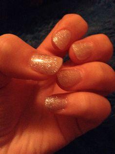 My Wedding nails! Acrilics and silver sparkles. Yay!