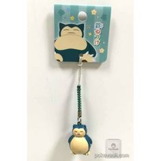 Pokemon Center 2016 Japanese Pattern Campaign Snorlax Mobile Phone Strap Bell Charm