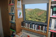 Bibliobús Municipal de Málaga. En ruta, de camino a Olías