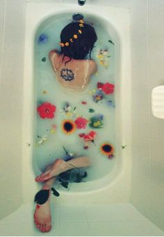 This is what we call a #herbalbath wow we want to dive right in #relaxation