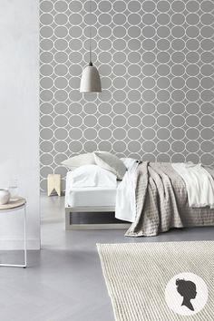 Self Adhesive Circle Pattern Removable Wallpaper D180