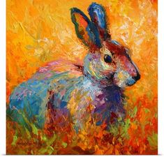 Marion Rose Poster Print Wall Art Print entitled Forest Bunny, None
