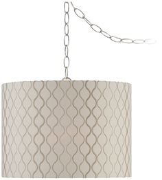 Pacific Coast w2871 Embroidered Hourglass Swag Style Plug-In Chandelier