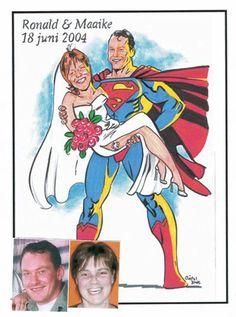 Een superhuwelijk By Christel Schols, sneltekenaar.nl