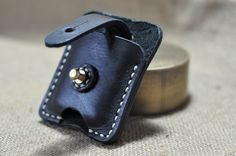 Hand Stitched Vintage Leather Lighter Case for Zippo $25