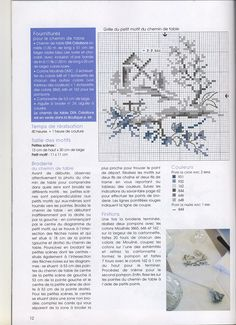 cross stitch De fil en aiguille No. 26 9 by V. Enginger with colour key