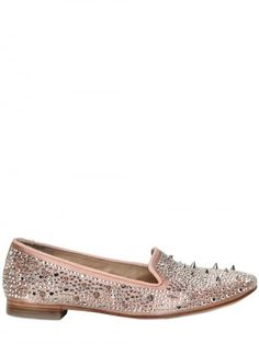 SAM EDELMAN Satin Spikes Loafers- have and LOVE in black.