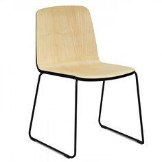 Normann Copenhagen Just Chair stoel met zwart onderstel | FLINDERS verzendt gratis