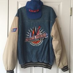 Vintage 1997 NBA Allstar Weekend Jacket!! Vintage Jacket Excellent Condition From NBA Allstar Weekend 1997! The Year Kobe Bryant Won The Slam Dunk Competition In Cleveland Ohio! gear for sports Jackets & Coats Bomber & Varsity