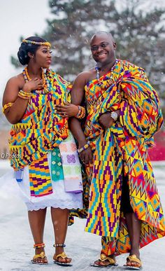 African couple in kente cloth for engagement, African fashion, Ankara, kitenge, African wo… – African Fashion Dresses - 2019 Trends Ghana Fashion, African Fashion Ankara, African Inspired Fashion, African Print Fashion, African Prints, Africa Fashion, Women's Fashion, African Dresses For Women, African Attire