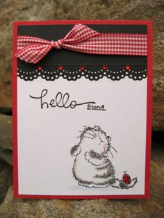 Hello friend by catcrazy - Cards and Paper Crafts at Splitcoaststampers