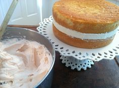 Best Bavarian-filled white cake with icing recipe-all from scratch