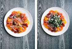 My favorite citrus salad // Photo by Signe Birck White Balsamic Vinaigrette, Lamb Ragu, Yellow Table, Seafood Stew, Citrus Fruits, Bon Appetit, Food Styling, Dressings, Clean Eating Meals
