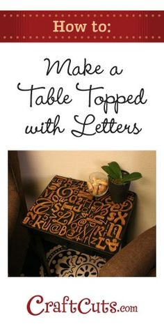 Spice up your plain table with this table topped idea! For everything you need to craft visit Walgreens.com.