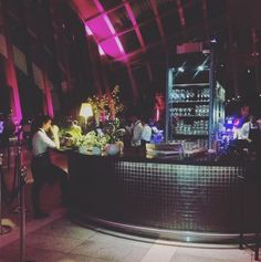 This is the beautiful bar at at the Sky Garden at the Walkie Talkie in Sky Garden. #London. Luxeha.com