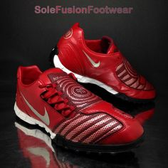 f51ec152b Nike Mens Total 90 Football Trainers Red Sz 11 RARE Shoot II Soccer  SNEAKERS 46 for sale online
