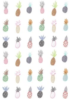 ▼Pineapple Print. Wall art.