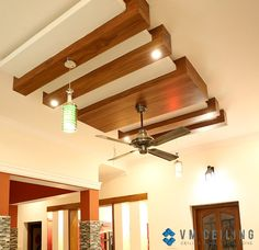 Wooden Bar False Ceiling Design to support ambient lighting yet contemporary ceiling design. Wooden Ceiling Design, Drawing Room Ceiling Design, Simple False Ceiling Design, Gypsum Ceiling Design, House Ceiling Design, Ceiling Design Living Room, False Ceiling Living Room, Bedroom False Ceiling Design, Ceiling Decor