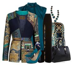 """""""Velvet"""" by easy-dressing ❤ liked on Polyvore featuring Oliver Gal Artist Co., Dasein, Armani Collezioni, Lanvin, Etro, SJP, Annoushka, blazer, velvet and WhatToWear"""