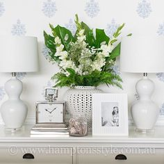 ~ Clean and Crisp ~ Create a space of serenity by taking inspiration from our fresh and bright instore display