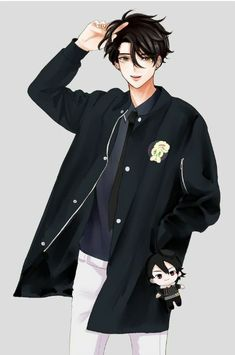 He looks like a mix between JD from heathers and Jumin Han from MM - Best anime list Hot Anime Boy, Cool Anime Guys, Handsome Anime Guys, Anime Boys, Anime Boy Hair, Manga Anime, Manga Boy, Anime Boy Zeichnung, Boy Character