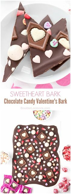 Sweetheart Bark Chocolate Candy Valentine's Bark. Simple and fun! BoulderLocavore.com