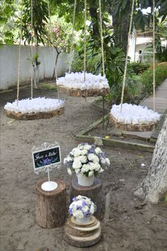 Árbol Chic Wedding, Rustic Wedding, Dream Wedding, Outdoor Wedding Decorations, Reception Decorations, Backyard Birthday Parties, January Wedding, Flower Lights, Amazing Decor
