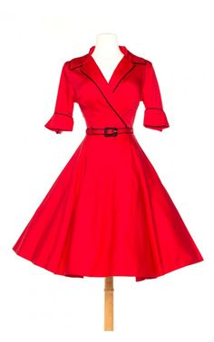 Haunted Housewife Dress in Red - Plus Size - Plus Size - Clothing | Pinup Girl Clothing