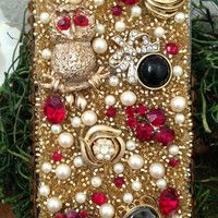 Gorgeous Gold and Ruby Bling iPhone 5 Case