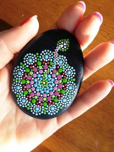 Dot painted Stone hope