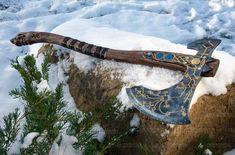 Kratos axe God of war Leviathan felling hatchet carbon steel | Etsy Kratos Axe, Survival Axe, Viking Axe, Axe Head, Fantasy Weapons, Weapons Guns, God Of War, Leather Cover, Larp