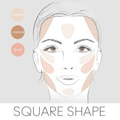 Beauty Tip: Here's how to apply your blush, bronzer & highlighter if you have a diamond face shape. Beauty Tip: Here's how to apply your blush, bronzer & highlighter if you have a diamond face shape. Eye Contouring, Contouring And Highlighting, Contouring Round Face, Face Shape Contour, Contour For Round Face, Face Contour Makeup, Contour Square Face, Round Face Makeup, Beauty Makeup