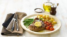 Biff med peppersmør - Oppskrift fra TINE Kjøkken Tin, Dairy, Cheese, Food, Pewter, Essen, Meals, Yemek, Eten