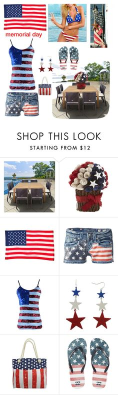 """""""Happy Memorial Day"""" by kotnourka ❤ liked on Polyvore featuring interior, interiors, interior design, home, home decor, interior decorating, Pier 1 Imports, Evergreen, Miss Me and Mixit"""