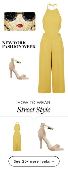 """NYFW Street Style: Jumpsuit Glam"" by s-e-r on Polyvore featuring Topshop and Alice + Olivia"