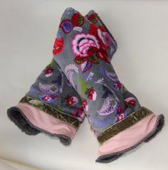 Pulswärmer - Wendearmstulpen-Pulswärmer-Flauschi - ein Designerstück von byGretchen bei DaWanda -super weiche flauschige Armstulpen  zum wenden, geeignet für schmale Arme oder auch für Kinder
