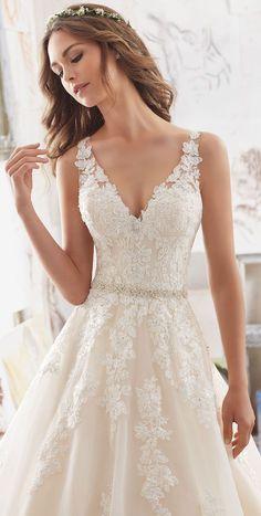 Mori-Lee-by-Madeline-Gardner-Wedding-Dress-Collection-Blu-Spring-2017-5510-2.jpeg 615×1,218 pixels #weddingdress