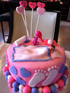 Baby shower cake for girl 메가플레이온카지노마리나베이샌즈카지노다모아바카라태양성바카라