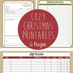 Christmas printables including letter to Santa